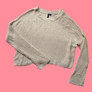Neutral Beige Knit Sweater NWOT
